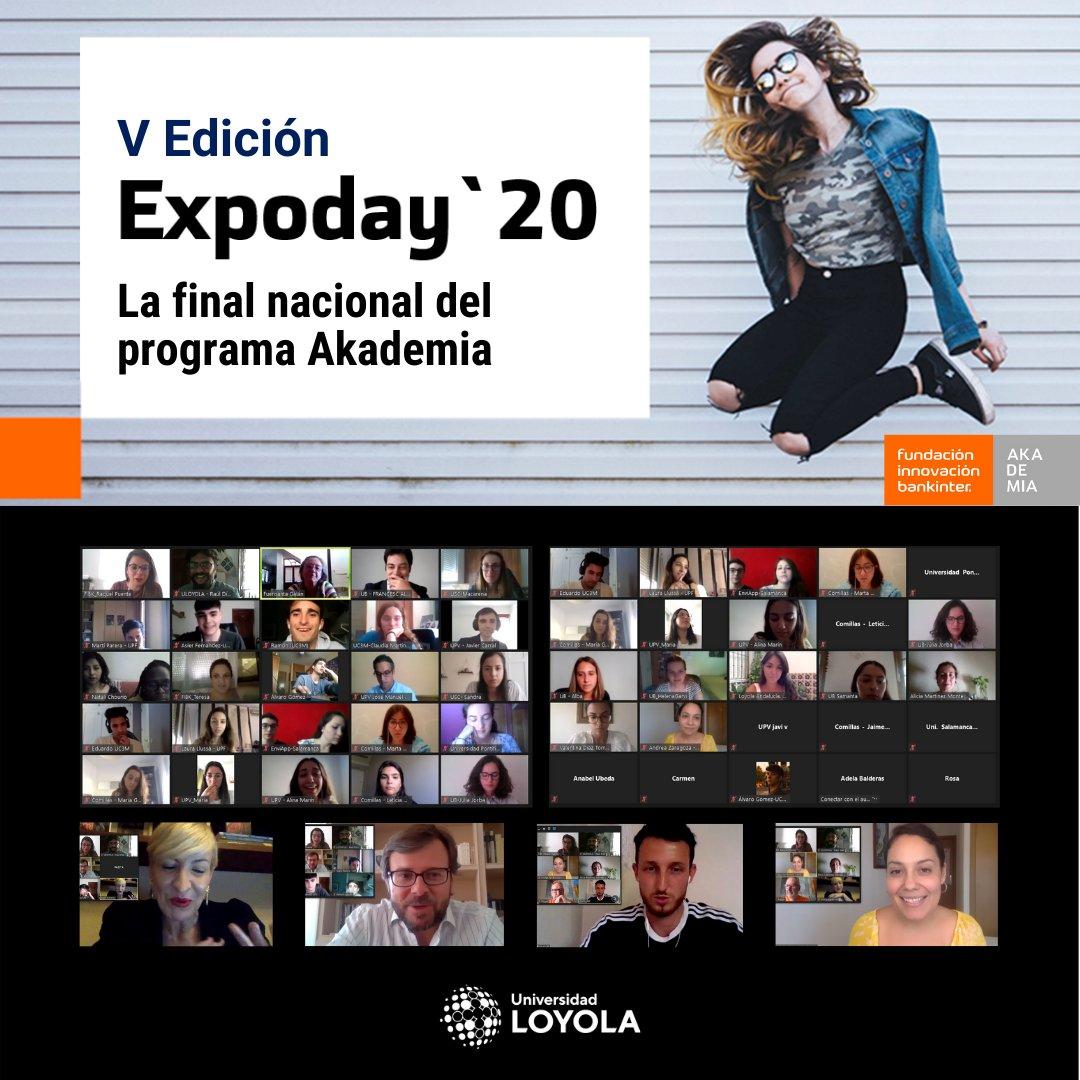 Arranca #Expoday, la final nacional del programa #Akademia en la que @LoyolaAnd participa representada por #Fanvia. Proyectazo liderado por las alumnas Valentina Díaz y Ana Pérez Vera.   Y mientras esperamos que les llegue el turno, conocemos al gran jurado. ¡Suerte a tod@s! :) https://t.co/yOOEkOR4qD