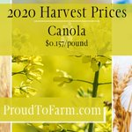 Image for the Tweet beginning: 2020 Harvest Prices have been