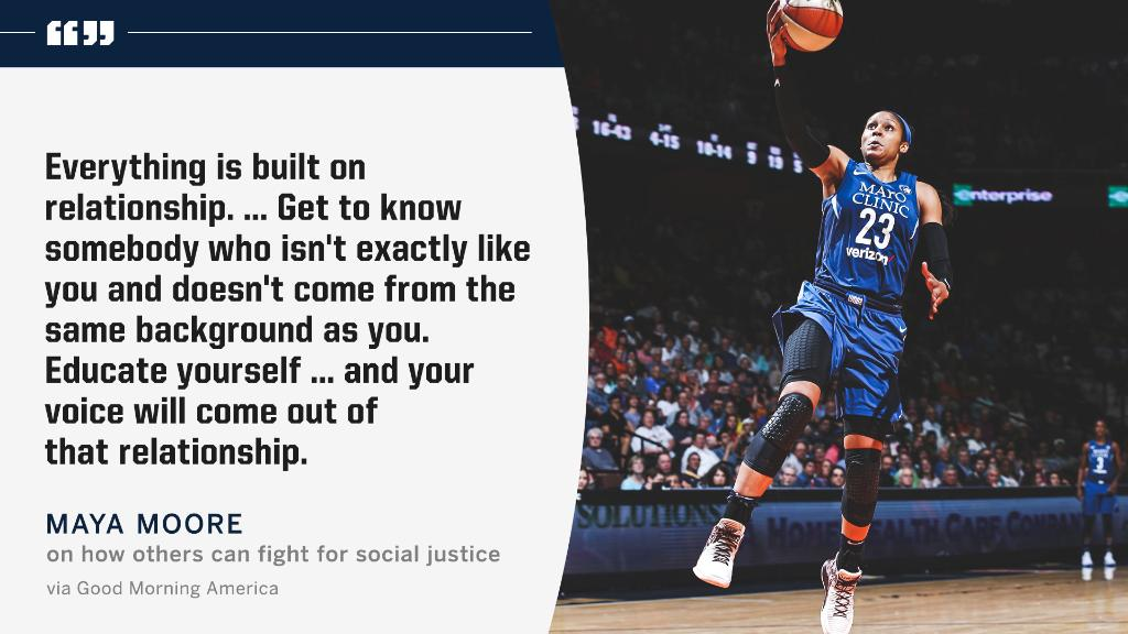 After giving up her 2019 @WNBA season to help Jonathan Irons overturn his conviction, @MooreMaya shares how people can join the fight for social justice. https://t.co/rd0NrSMrfb