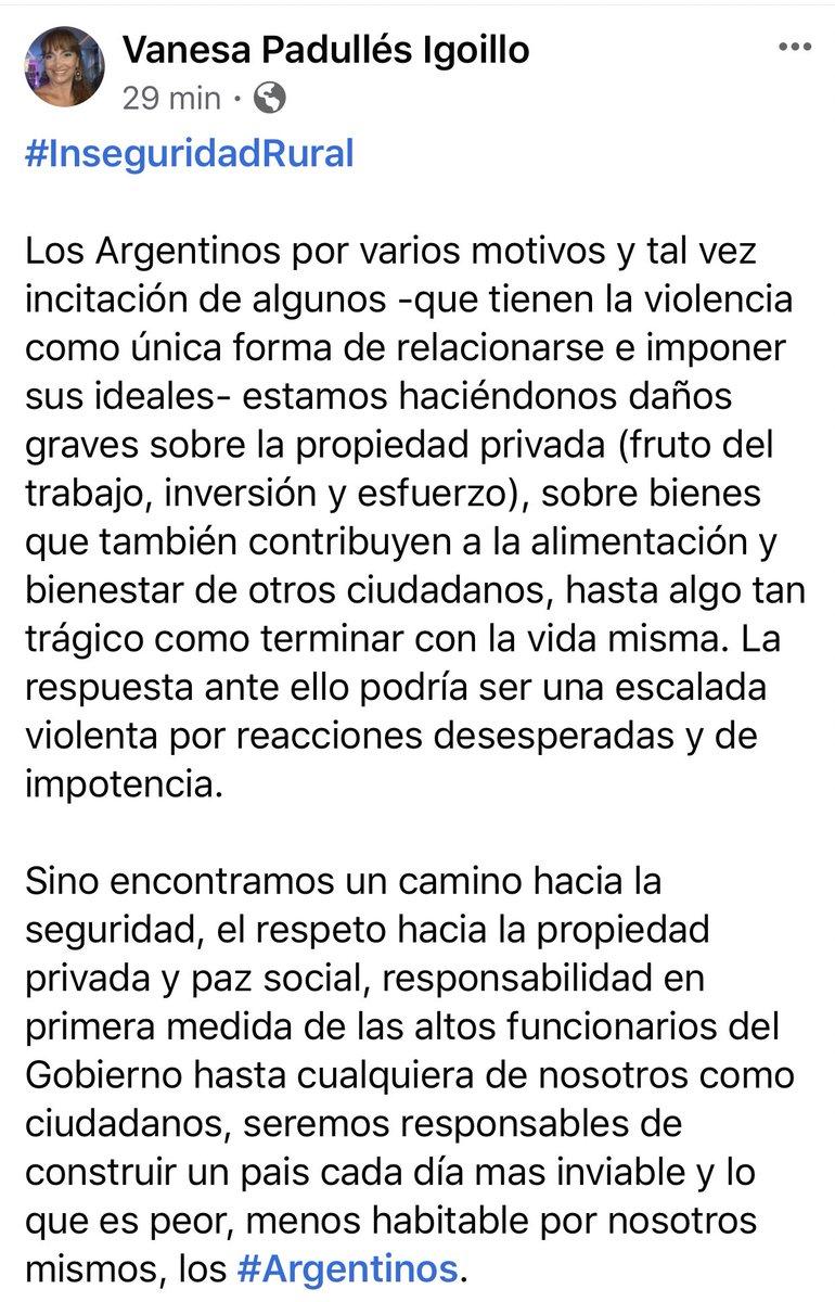 #inseguridadrural #robos #asesinatos #daño #vandalismo #incendios #roturasailobolsas #pazsocial #Argentinos #Justicia #seguridad 🇦🇷🇦🇷🇦🇷🇦🇷 https://t.co/jA1xHwuzDr