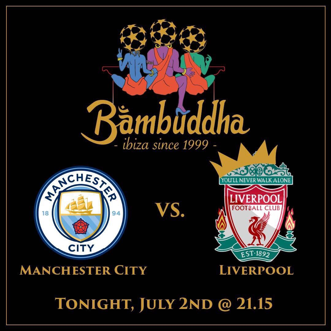 After 30 long years, the reigning champions, Man City, will hand over the Premier League Trophy to Liverpool  Come watch the game at 21:15 #bambuddhaibiza #bambuddha #bambuddhalounge #bambuddha2020 #premierleague #footballnight #footballfans #footballlovers #ibizapic.twitter.com/2Fpml29tB0