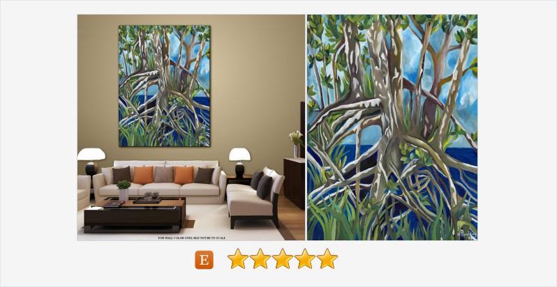 Contemporary Tropical Plant life Acrylic #art Title: MANGROVES II #acrylic #painting  https://t.co/JWMU76cdvM https://t.co/2VU0KGS9c5