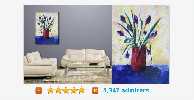 Canvas expressionistic palette knife Textured, Floral Purple Title TULIPS #oil #painting  https://t.co/JxglWtzFdl https://t.co/ZRUJjkt1vQ