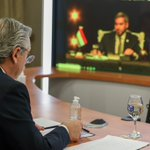 Image for the Tweet beginning: El presidente Alberto Fernández en