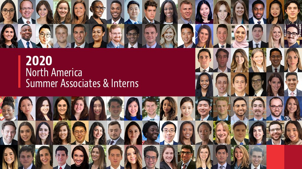 Baker McKenzie is proud to welcome 76 summer associates in the US and Canada, and 19 summer interns in Mexico. Our virtual summer program will provide opportunities for skills-based training, pro bono projects, team-building events and to work on substantive legal assignments. https://t.co/RKzir7xDHg