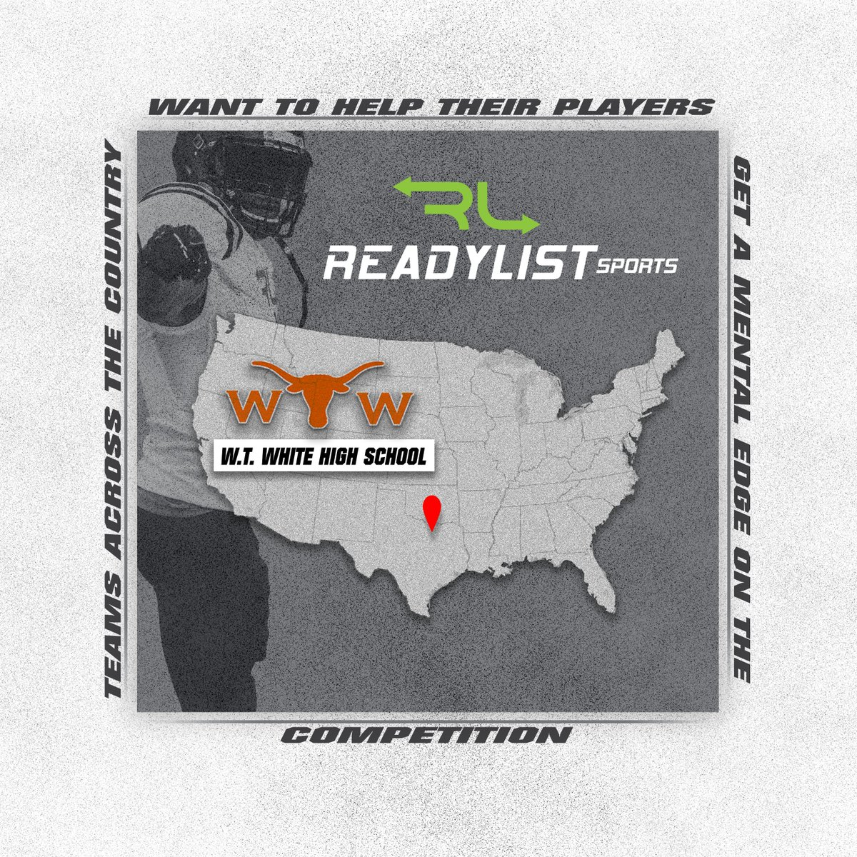 W.T. White High School has joined the ReadyList family. Structuring player learning is huge when it comes to success on the field and we are excited to see how the Longhorns perform this season. #Getinyourplaybook #Football #Learningapp https://t.co/xCDIlpCwgF