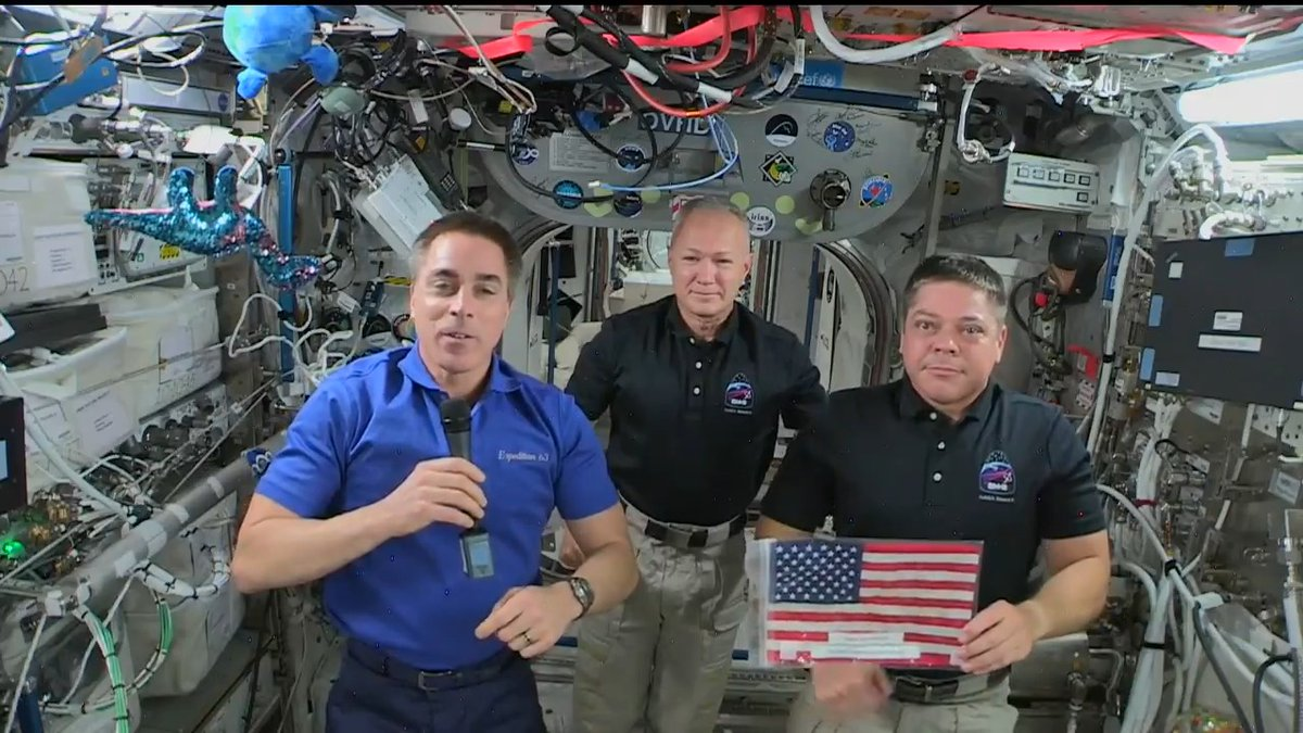 Even though we are living during unprecedented, challenging times, the spirit & resolute will of our country and all Americans has never been stronger. @Astro_SEAL, @Astro_Doug, and @AstroBehnken, the three Americans in space, pause to honor the US 244th birthday. #4thofJuly