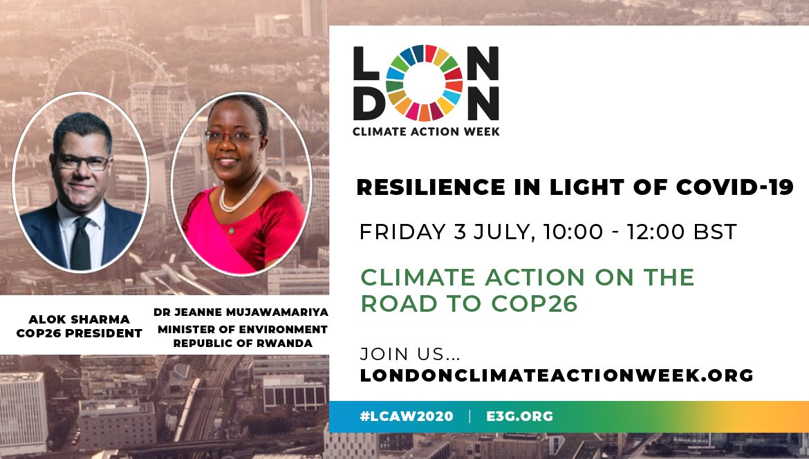 Welcome to day 3 #LCAW2020!  🌎 💪 💚 🇬🇧  Today COP26 President @AlokSharma_RDG will be discussing adaptation and resilience for #COP26 with @IIED.  Watch the event live at 10am BST: 👉 https://t.co/0yQEcbRnux  @MujaJeanne   #LDNClimateAction   #ClimateAction https://t.co/OnmDbMxVj4