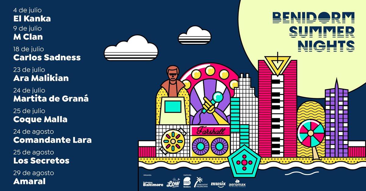 La música no para en #Benidorm con #BenidormSummerNigths el próximo 4 de Julio primera entrega con #Elkanka más info en @ProdsBaltimore https://t.co/jICtd4yxXX