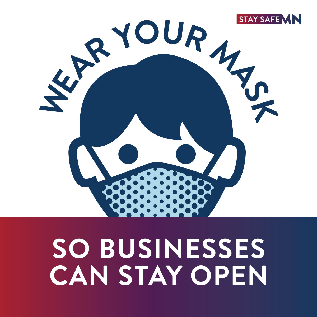 👋Hey Minnesota, wear a mask! The more we slow the spread, the better it is for our economy and the small businesses devastated by COVID-19. #MaskUpMN #StaySafeMN https://t.co/59jLgtn7eo