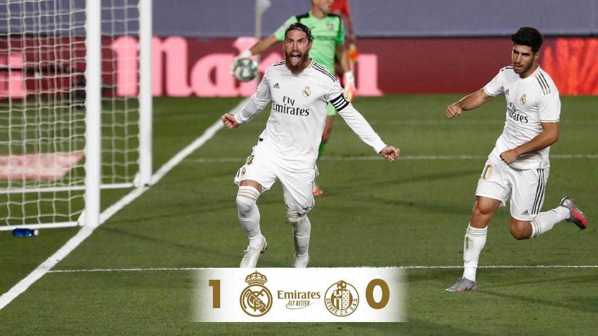 🏁 نهاية المباراة!   ريال مدريد 1-0 خيتافي   ⚽ د.79 @SergioRamos (ركلة جزاء) #Emirates | #RMLiga https://t.co/KJTRzHenwn