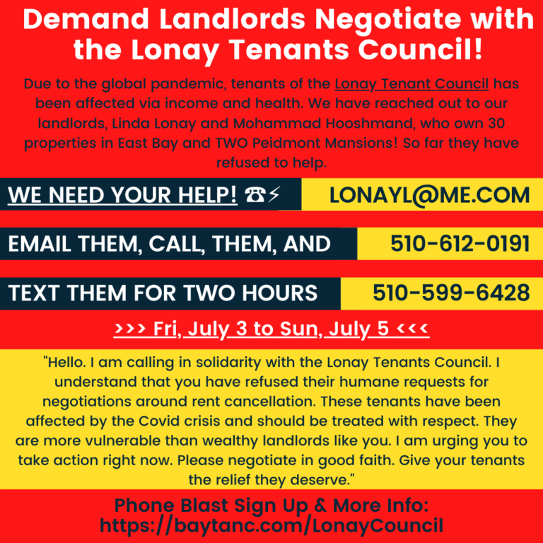 **Phone Zap** The @LonayTenants council is asking for help in getting their slumlord to negotiate not retaliate. Call, text and email them - lets ruin their weekend and demand that they negotiate right now!