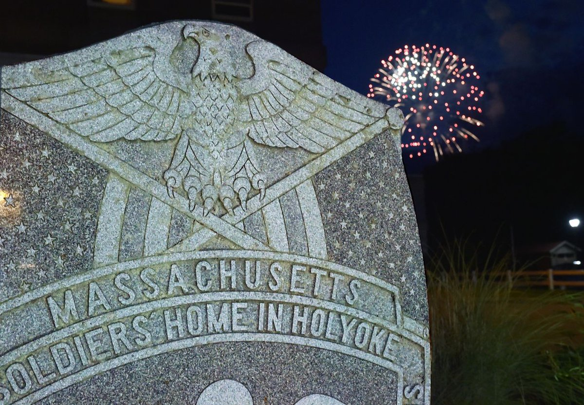 From all of us at the Soldiers' Home in Holyoke, we wish you a happy and healthy Independence Day!  Photo credit: Frederick Gore https://t.co/f26Ue3v3Hv