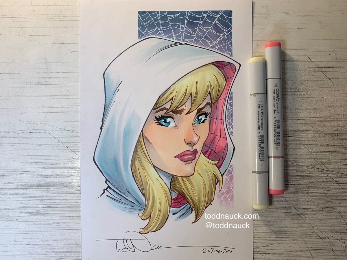Spider-Gwen. A recent commission. #spidergwen #gwenstacy #marvel