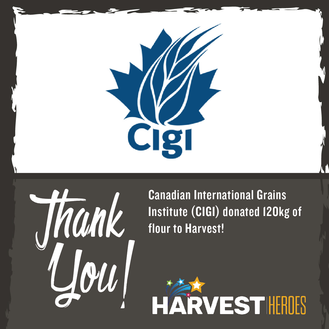 Thank you to @CigiWinnipeg for donating 120kg of flour to Harvest!  #ThankfulThursday https://t.co/rzT0leOB0c
