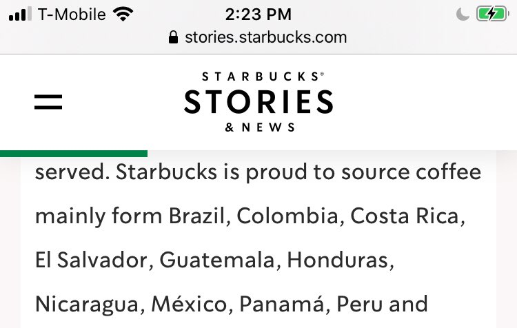 Majority of it actually is from Brazil and Colombia they are two of the largest exporters of coffee beans. It's not even logical to say OROMIA Region in Ethiopia sourced 90% of Starbucks coffee.pic.twitter.com/UER9JR9MT5