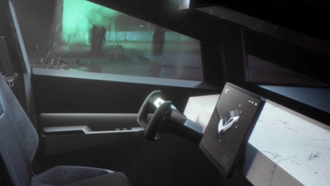Cant wait to have a butterfly steering wheel, though Im sure itll take a bit to get used to. What else is going to take some getting used to, from driving ICE trucks? #EVTrucks #Cybertruck #Tesla #TrucksV2