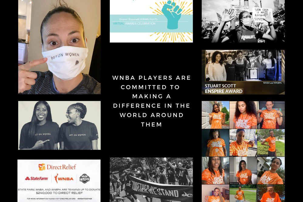 """""""The reason why you see athletes leading the charge when it comes to social change is because ...it's in our DNA."""" https://t.co/ov0kaEkRCN"""
