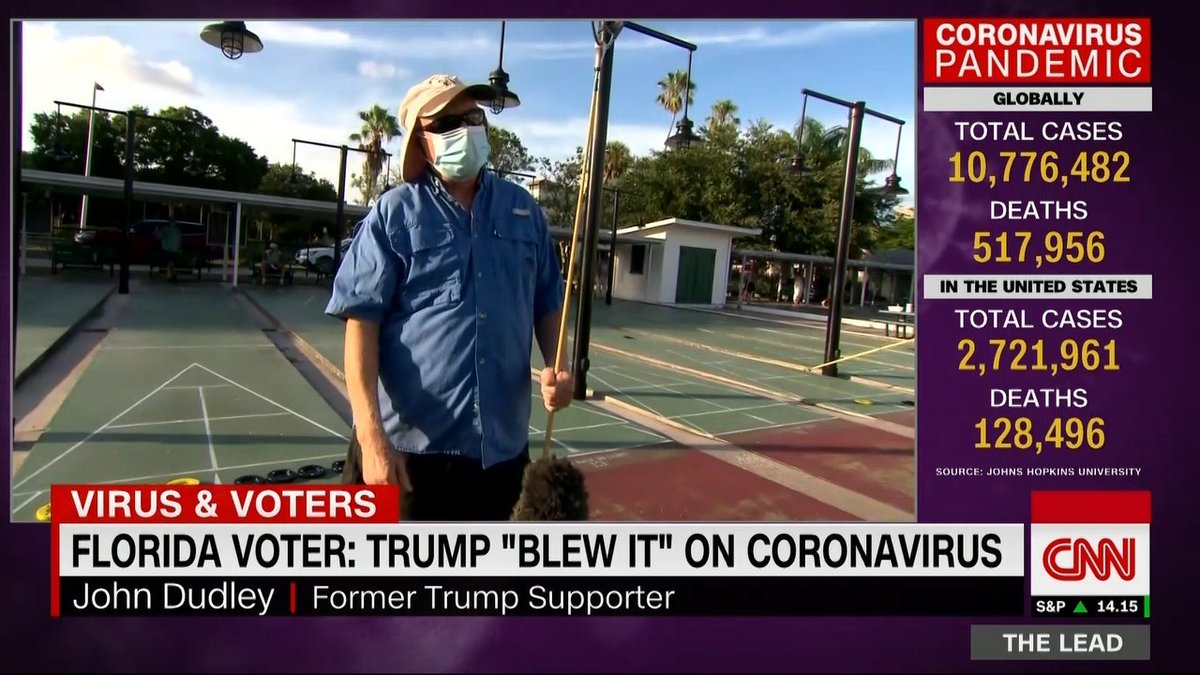 Florida voter: Trump 'blew it' on coronavirus, won't have my vote in November @jeffzeleny reports