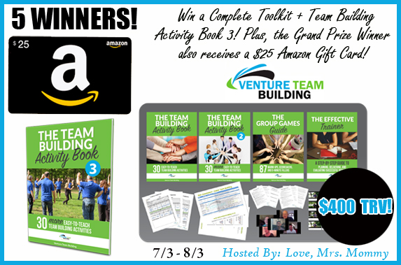 5 WINNERS! $400 TRV #GIVEAWAY! #WIN a $25 #Amazon Gift Card + $75 @ventureteam prize pack! 4 Runners-up get the #prize pack! #FREE #MONEY! #Shopping #Contest #Freebie #AmazonGiveaway #GiftCard #FreeMoney #Cash @Love_MrsMommy https://t.co/Gn6mxEepwb https://t.co/xR9OH5u241
