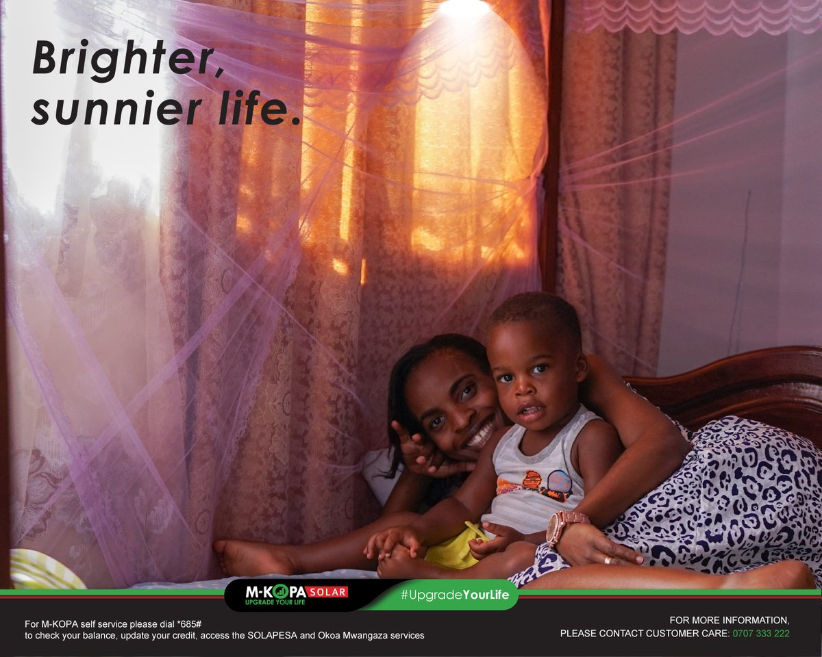 New month, new goals. Despite the hard times, you can let your family live on the sunnier side of life in easy instalments. Power your house with the M-KOPA Solar Home System today. See it here: https://t.co/Wrkp606tBx #UpgradeYourLife https://t.co/3lLsXfdFwP