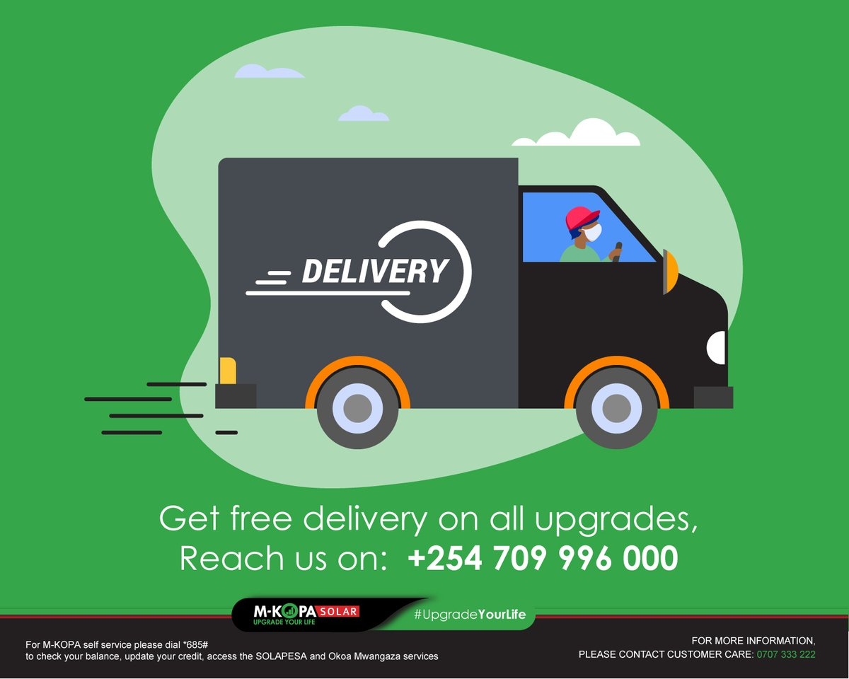 You do not have to worry about the logistics of getting your upgrade products delivered to you. Get them delivered to your house free of charge. Reach us on: +254 709 996 000 today. See our products here: https://t.co/Wrkp5ZOSJZ #StaySafe #EssentialService https://t.co/aYGapczxWM
