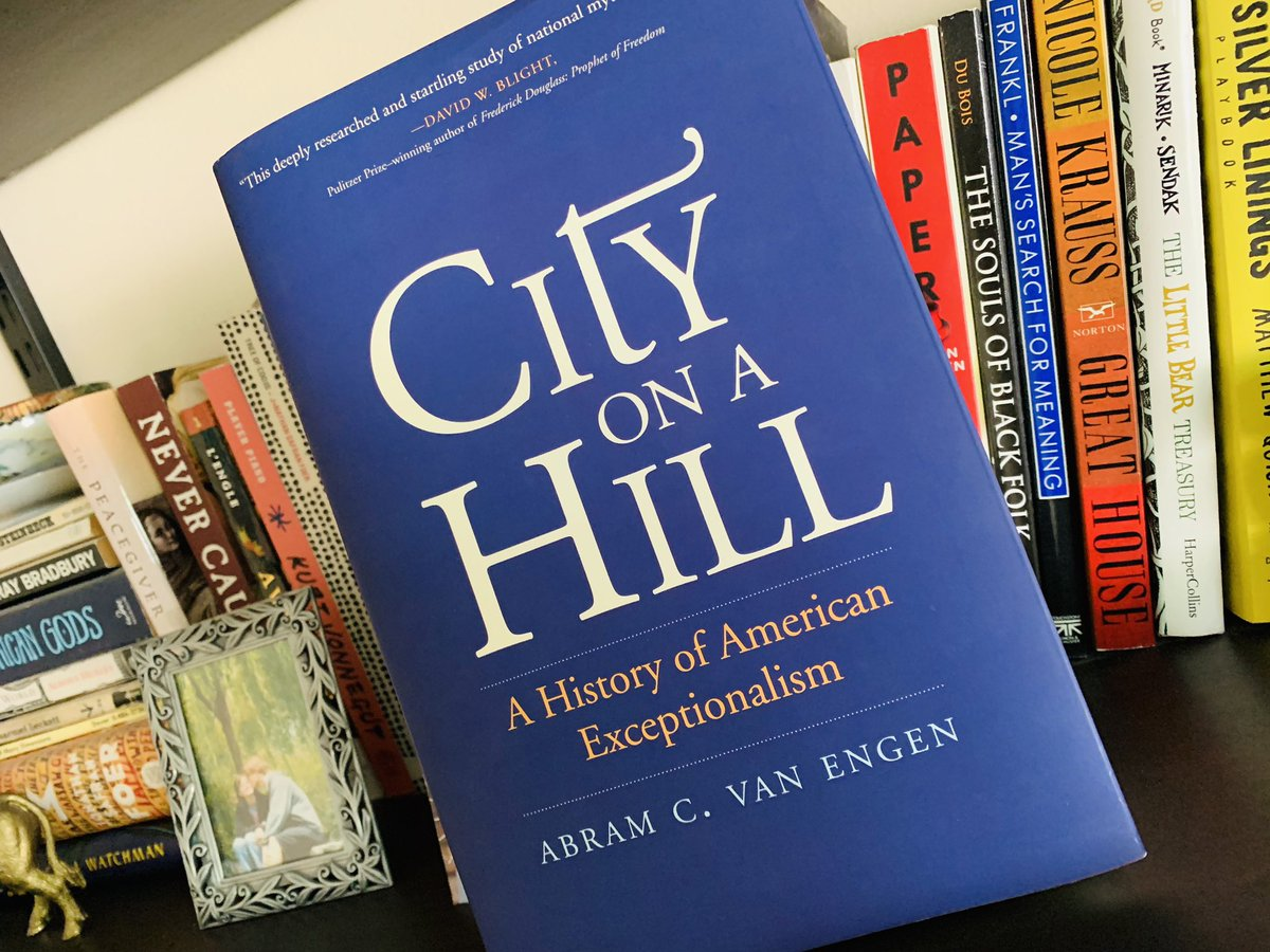 This week I read @AbramVanEngen's new book, CITY ON A HILL, from @yalepress. It examines the history of John Winthrop's famous sermon, how that sermon went from obscurity to fame, & how the Puritans story became an American origin story. It's excellent! #twitterstorians https://t.co/JbWJtIrP12