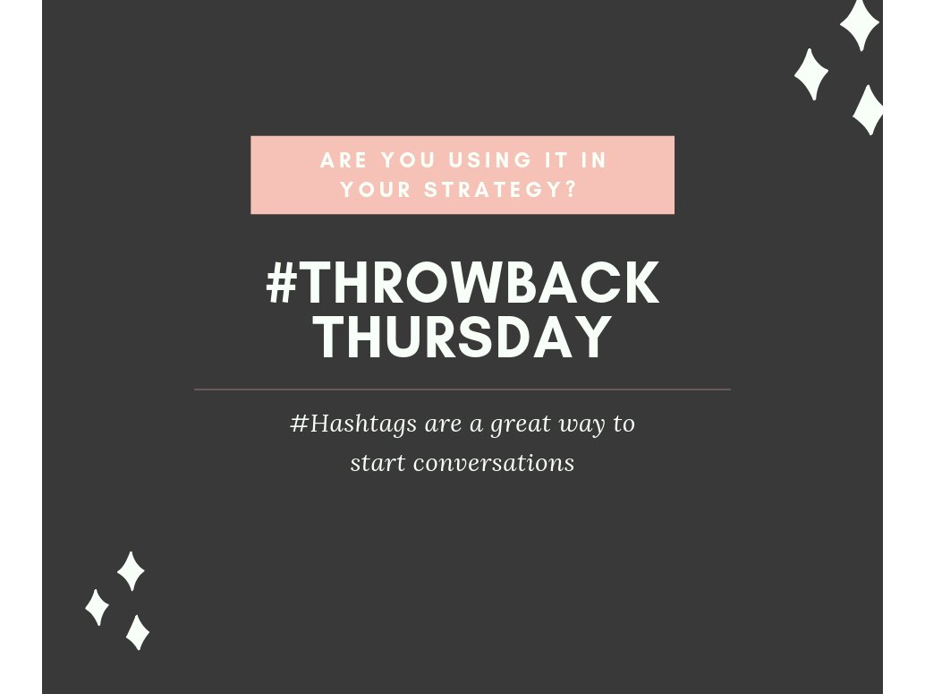 We love #Throwback Thursday posts! Did you know that #hashtags like that are a great way to start a conversation? Do you use them in your strategy?  We wanted to share some great case studies we found!  via: https://t.co/UwgmUjpK0I https://t.co/WSFaRgBNBu