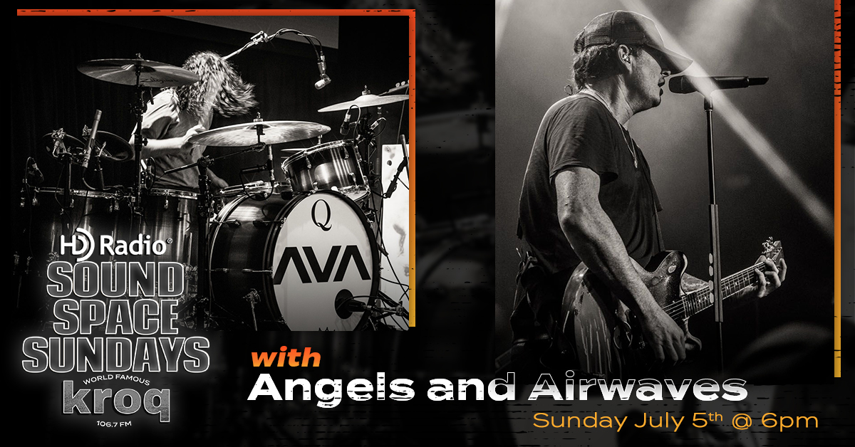 RT HDRadio RT kroq: KROQ HDRadio Sound Space Sundays continues with a new interview with Angels & Airwaves (AVABandOfficial) and MeganHoliday, followed by an archived Sound Space performance. Listen live 📻 to 106.7 KROQ or stream 💻 on …