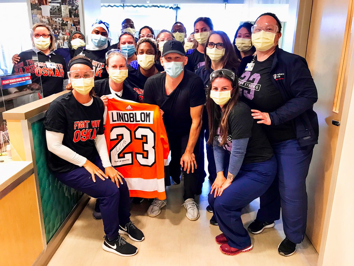 Thank you to all the doctors and nurses at @PennMedicine for your extraordinary work, care, and help in making this incredible day possible. 🧡🖤💜 #OskarStrong https://t.co/JO3PmKz8JU