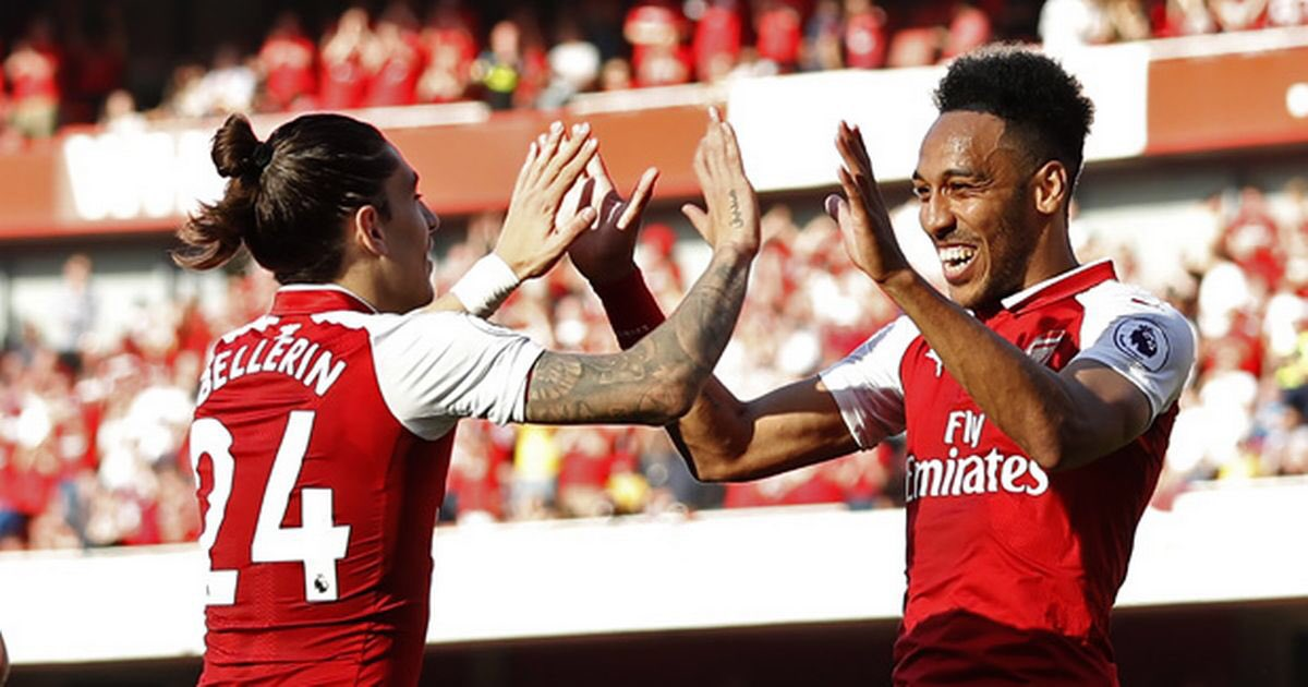 """Bellerin on Aubameyang: """"I think the stats speak for themselves. It is very hard nowadays to get a striker that can score that many goals in that many games. We are very happy to have him""""  #Arsenal #Football #Bellerin #Aubameyang pic.twitter.com/l4yspsMKe7"""