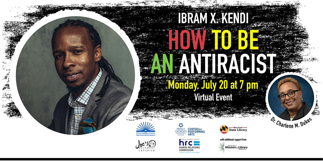 """.@DrIbram has been one of the world's most in-demand authors as the #BlackLivesMatter movement has led to global protests. In this online event, he'll discuss his book """"How to Be an Antiracist"""" with @pgccpres, the first Black president of @pgccnews. https://t.co/iR967DmQ5u https://t.co/w3Rj9rMZnM"""