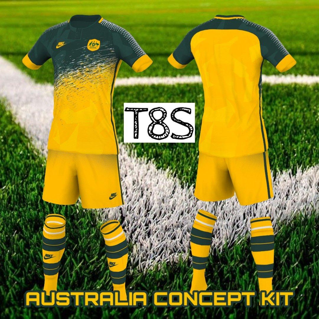 AUSTRALIA 🇦🇺🦘 @Socceroos Concept Kit Made with @PESMasterSite  #eFootballPES2020 #kitmaker #kitfantasy #kitconcept #kit #Concept #fantasy #conceptkit #australia #Nike  DOWNLOAD: https://t.co/WDwCrQZRpd  @PeSpanda https://t.co/B8I2Q9vMZa  @VirtuaRED https://t.co/r34BMY0fBE https://t.co/JlhYHVBYpf