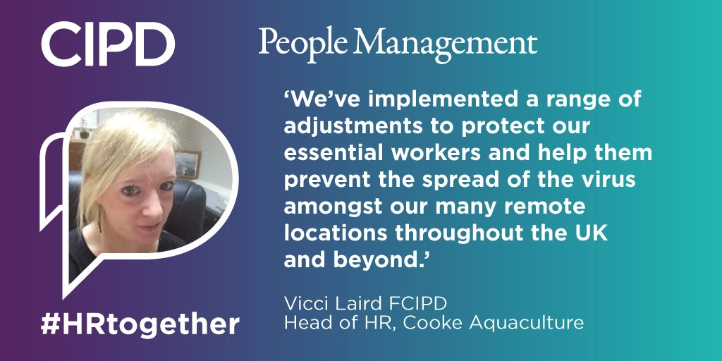 People professionals have played a vital role in the coronavirus pandemic. Were looking for stories from the international HR and L&D communities of the teams, individuals and independent practitioners who have put people first. Share using #HRtogether ow.ly/ZRwU50Aofvq