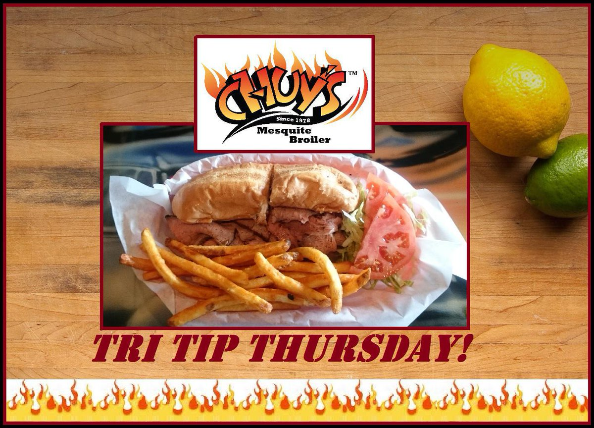It's Tri-Tip Thursday! Get a Tri-Tip Sandwich Meal with Fries or Chuy's Homemade Chili on the side for only $8.99 today! #Hungry #Thursdaypic.twitter.com/LaxU7xhQCZ