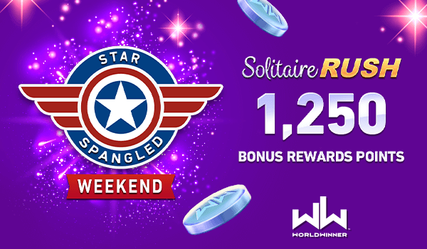 We're kicking off our Star Spangled Weekend with 1,250 bonus Rewards Points in Solitaire Rush! 🎆🦅🎉🗽🇺🇸 Log in to learn more: https://t.co/LR3oGrdnvA  Stay tuned for more Star Spangled Weekend events through 7/6!  #independenceday2020  #4thofJuly #playgames #cashgames #wincash https://t.co/MBwPG9pO3f