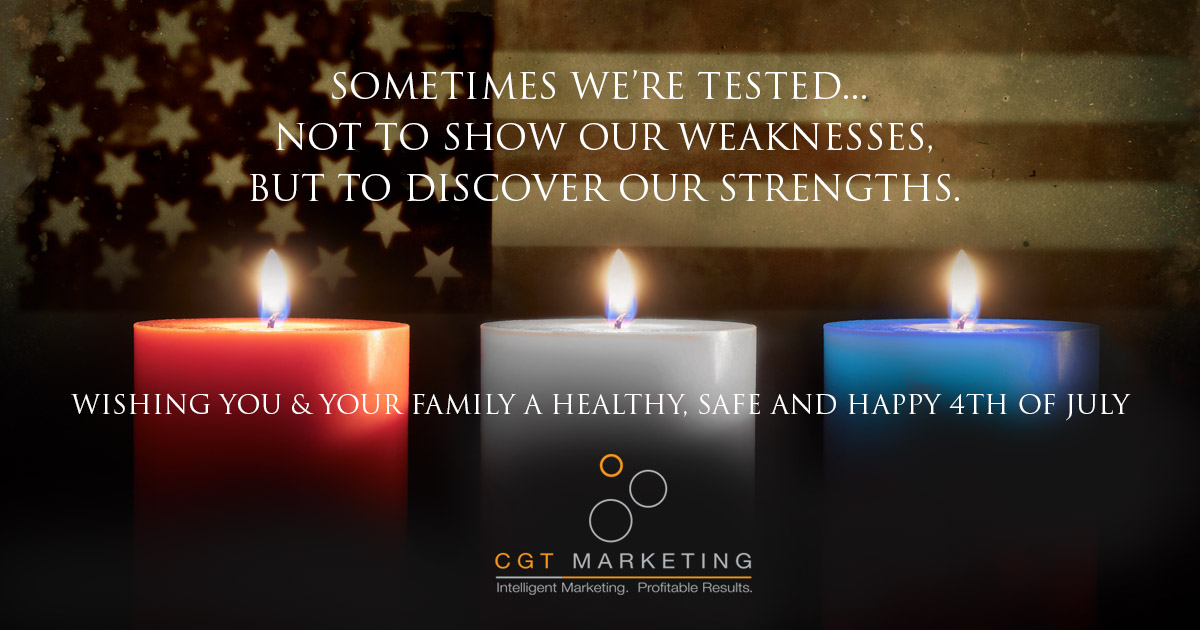 Have a safe & Happy Independence Day!  #4thofJuly #IndependenceDay #CGTMarketing https://t.co/tpzQFRS4Xb