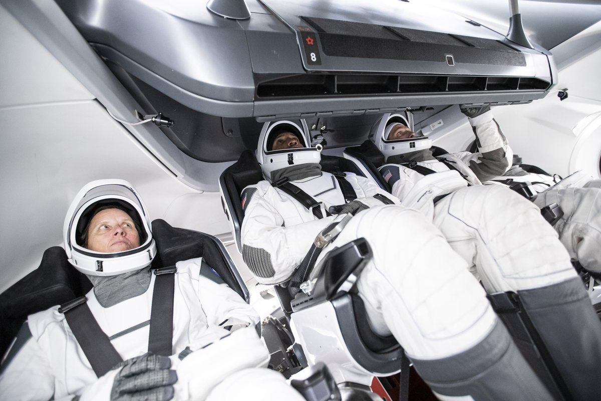 @SpaceX @elonmusk @NASA_Astronauts @Commercial_Crew @Astro_illini @VicGlover Crew-1 is scheduled to launch in mid-to-late September, carrying NASA astronauts Mike Hopkins, Victor Glover, Shannon Walker and JAXA astronaut @Astro_Soichi.
