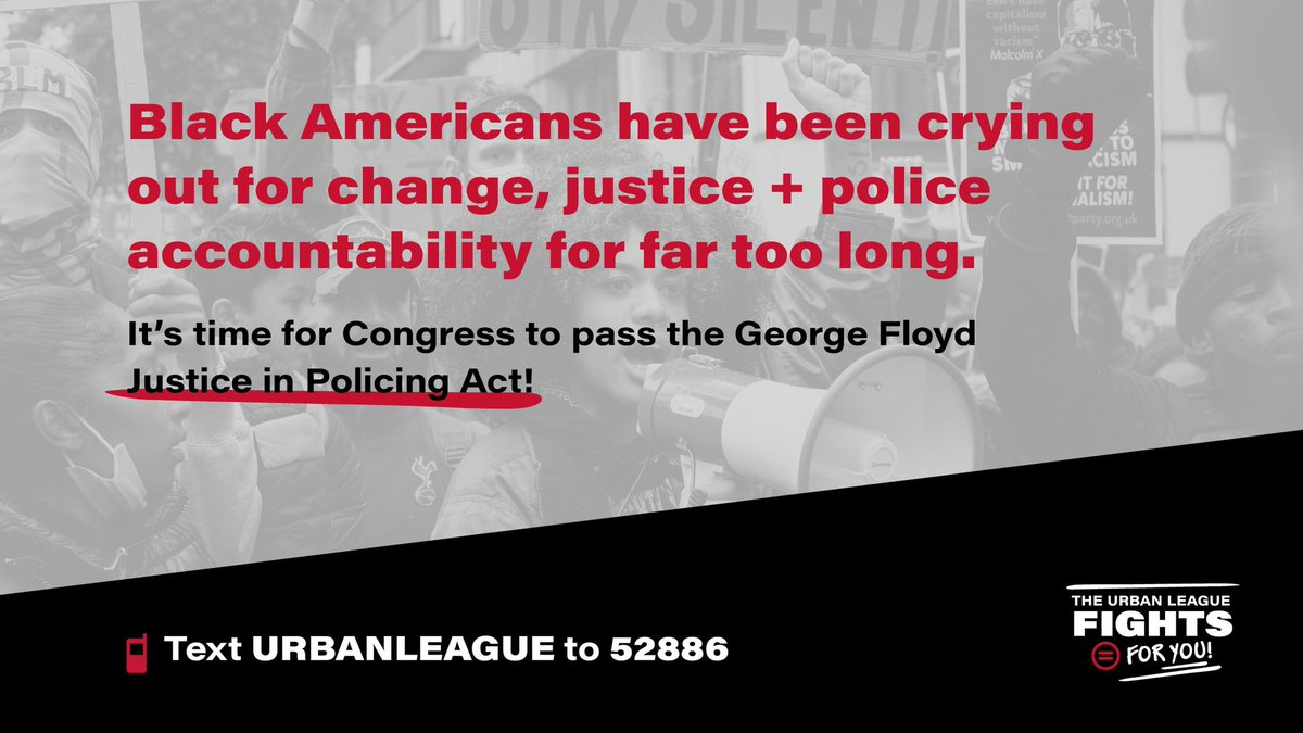 People around the world watched in horror as #GeorgeFloyd—handcuffed & defenseless—was executed by #Minneapolis police officers.  Now, we must act. Tell your #Senators to pass the George Floyd Justice in Policing Act!  👉🏾 TEXT URBANLEAGUE to 52886 👉🏾 Visit https://t.co/o0aLE31Rta https://t.co/RE9kg91qAc
