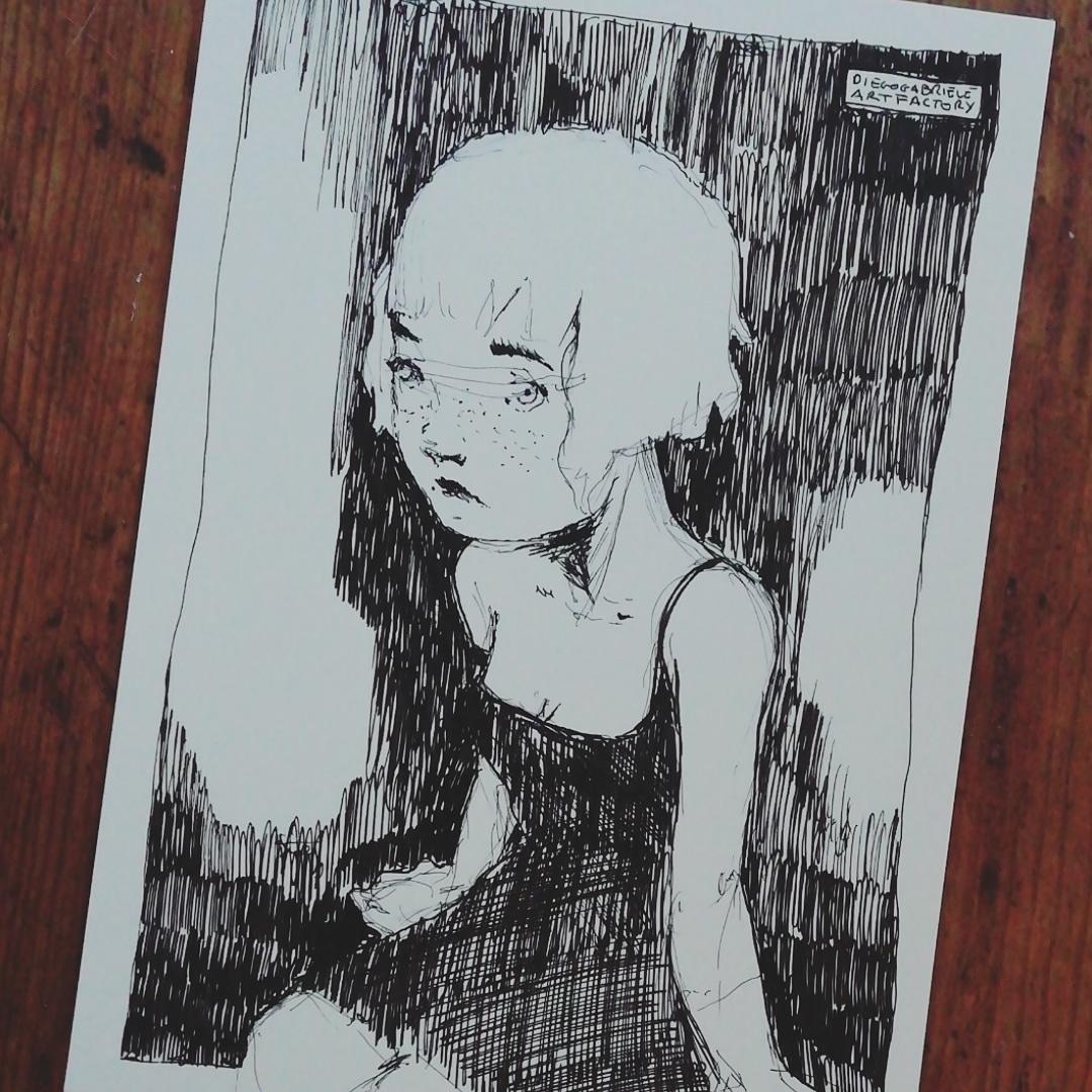Disegnino della sera.  http://www.diegogabriele.it  #uniball #drawing #illustration #sketchbook #sketchoftheday #pen #ink #inkpen #draw #drawingoftheday #instaart #creative #instaartist #artoftheday #blackandwhite #monochrome #monoart #illustrationoftheday #instaillustration #patreonpic.twitter.com/ygcbYK3i6F