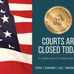 Image for the Tweet beginning: Reminder: #Circuit5 courts are closed