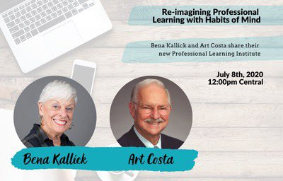 @ideaillinois will be hosting @benakallick and Art Costa 7/8 at 12cst. Bena and Art will share their new Professional Learning Institute and how the @hominstitute can serve us in responding to everyday problems, and in times of crisis. Register Here: https://t.co/KyHmxQwKOI https://t.co/OASrF29W1d