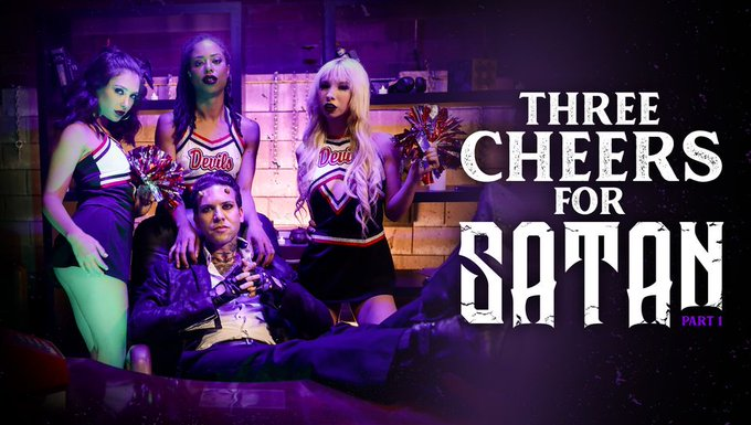 Gotta love some cheerleaders in league with Satan himself @thesmallhands_!  Enjoy the award winning film