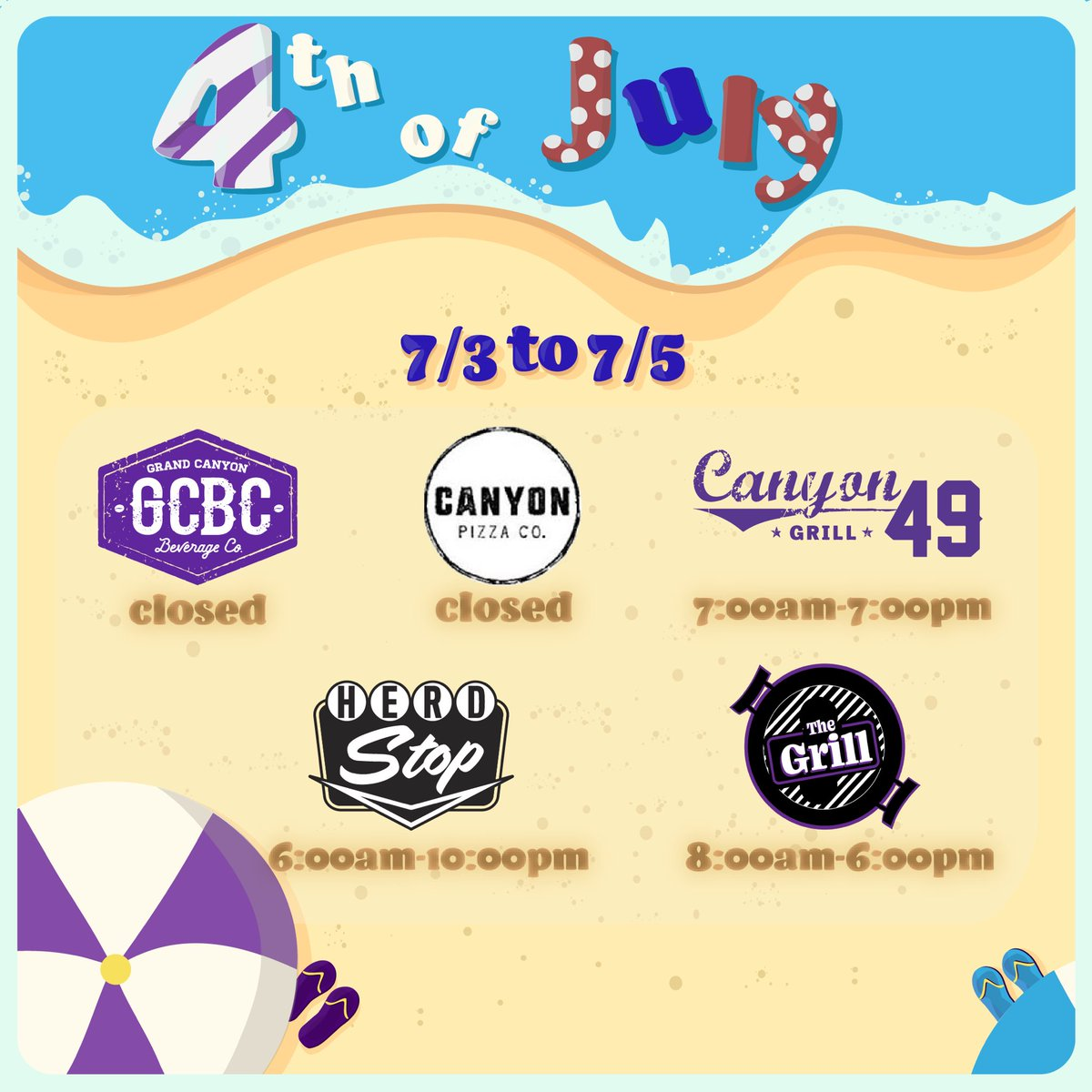 We hope you're staying cool this summer, Lopes! Here are the hours of operation from this Friday to Sunday #lopesup 💜 @GCU https://t.co/omjzCSqlUN