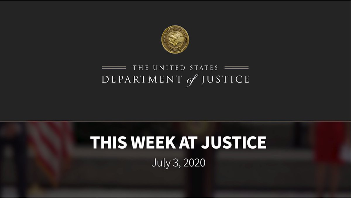 #ThisWeekAtJustice @ATF_Chicago seeks information in arson cases; DOJ warned of inaccurate flyers on face masks & ADA; @SDNYNews announced Ghislaine Maxwell charged for conspiring with Epstein to sexually abuse minors; @ATFHQ gave fireworks safety reminder for July 4th; & more https://t.co/xzfLnIeIpf