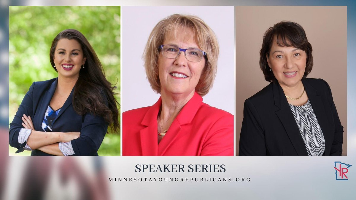 We will be live tonight on our weekly speaker series event beginning at 7pm! Joining us tonight is @JuliaEColeman @MaryStephensMN @donnabmn   Sign up here: https://us02web.zoom.us/meeting/register/tZ0pd-qvpzovGtKslI2HHP8aOihWMcHptQTr…  #leadright #womeninpolitics #youngrepublicans pic.twitter.com/8bJQHDm5sL