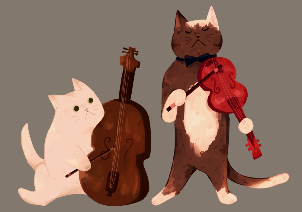 some new art, too....musician cats! i want to draw a whole band #illustration pic.twitter.com/LgYdRXidJX