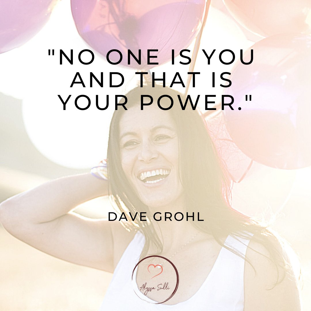 """""""No one is you and that's your power."""" ~ Dave Grohl . . . . . . . . . . . #believeinyourself❤️#lovewhoyouare #followyourheart❤️ #davegrohl #davegrohlquotes #whatsyourpurpose  #reinventyourself #alyssa.sulli #alyssasulli #youhavewhatittakes #getexcitedaboutlife #selftransformation https://t.co/yEpE2gIbUW"""