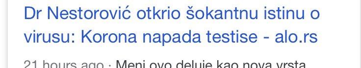 Ljudi ako je Vucic dobio koronu to znaci da vise nema ni ono jedno malo jaje sto je imao umesto penisa :(( https://t.co/QF8X97sXhA