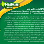 Image for the Tweet beginning: Agradeço ao #NasRuasCuritiba pela oportunidade